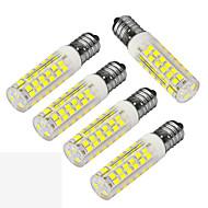 JIAWEN 5pcs/lot E14 5W LED Corn Bulb Warm White/ Cool white 480lm 75-2835 SMD (AC 220V)