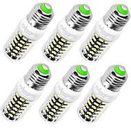 7W E14 / E26/E27 LED a pannocchia T 64 SMD 5733 560 lm Bianco caldo / Luce fredda Decorativo AC 220-240 V 6 pezzi