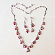 Damen Halskette / Ohrringe Modeschmuck versilbert Halsketten Ohrringe Für Hochzeit Party Hochzeitsgeschenke