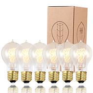 gmy 6本A19エジソン電球ヴィンテージ電球60ワットE26 / E27は電球を飾ります