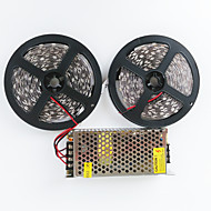 ZDM® 2X5M 140W 600X5050 SMD LED Cold White/Warm White and Aluminum Shell AC110-240V To DC12V10A Transformer