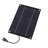 6w 5v cargador USB de salida de silicio monocristalino de paneles solares para 6s de Samsung del iPhone Huawei (swr6005u)