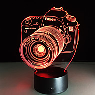 Novelty 3D Acrylic Entertainment Camera Illusion LED Lamp USB Table Light Rgb Night Light Romantic Bedside Decortion Lamp