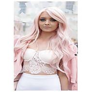 dailry φορώντας περούκα fahshion ροζ μακρύ κύμα συνθετικών europue και της Αμερικής γυναικών