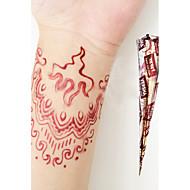 halloween natuurlijke kruiden henna tijdelijke mehandi tattoo kegels body art versha (rood)