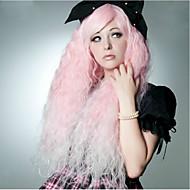 συνθετικές περούκες 90 εκατοστά ροζ κύμα νερού cosplay μόδα club νύχτα γυναικών 400g μεγάλου μήκους anime φορεσιά περούκα