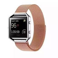Zwart / roze / Goud / Zilver Metaal Milanese lus Voor Fitbit Horloge 23mm