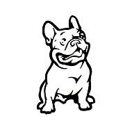 ziqiaoファッションフレンチブルドッグ犬の車のステッカーペットの車は、耐候性、自動スタイリング漫画の車のステッカーをデカール