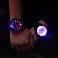 Hommes / Femme / Unisexe Montre Tendance / Bracelet Montre Quartz LED / Lumineux PU Bande Pour tous les jours Noir Marque