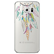 Feathers Necklace Pattern Soft Ultra-thin TPU Back Cover For Samsung GalaxyS7 edge/S7/S6 edge/S6 edge plus/S6/S5/S4