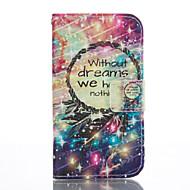 Mert Samsung Galaxy tok Kártyatartó / Pénztárca / Állvánnyal / Flip Case Teljes védelem Case Álomvadász Puha Műbőr SamsungJ5 (2016) / J1