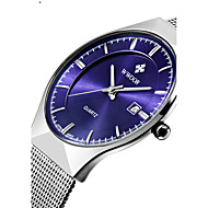 WWOOR Men's Women's Couple's Unisex Dress Watch Fashion Watch Wrist watch Calendar Water Resistant / Water Proof Quartz Stainless Steel