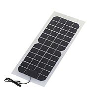 monokrystallinske solcellepanel 10W 12V med dc ladekabel for 12V batteri (swr1012d)
