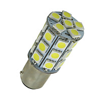 10 PCS Super White BA15D 27-SMD 5050 LED Light bulbs Marine Boat 1142 1178 1130