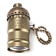 E27 Bakelite pohja polttimon lamppu pidin kytkimellä musta / pronssi / hopea / kultainen väri