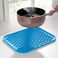 Suorakulma Yhtenäinen Placemats Coasters , Silikoni materiaali