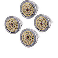 6.5 GU5.3(MR16) LED Σποτάκια MR16 48 SMD 2835 600 lm Θερμό Λευκό Διακοσμητικό AC 12 V 4 τμχ