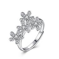 Yüzükler Sexy / Moda Düğün / Parti / Günlük Mücevher Som Gümüş Kadın İfadeli Yüzükler 1pc,Ayarlanabilir Gümüş