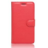 Taske til lg k10 (2017) k8 (2017) kortholder lommebog med stativ flip fuld kropsfarve solid farve hard pu læder til lg k3 (2017) (diverse