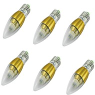 YouOKLight 6PCS E27 5W 50xSMD3014 500LM 36000K  White LED Candle Bulbs AC85-265