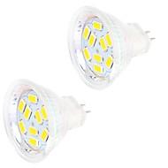 4W GU4(MR11) LED betűzős izzók MR11 9 SMD 5730 400 lm Meleg fehér / Hideg fehér Dekoratív DC 12 V 2 db.