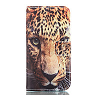 Varten Samsung Galaxy kotelo Lomapkko / Korttikotelo / Tuella Etui Kokonaan peittävä Etui Leopardiprintti Pehmeä Tekonahka Samsung
