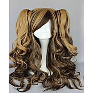 Naisten Synteettiset peruukit Suojuksettomat Laineikas Musta Ruskea Pinkki Liukuvärjätyt hiukset Cosplay-peruukki puku Peruukit