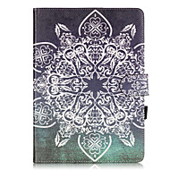 PU Leather Material Full Flower Pattern Painted Embossed Tablet Case for iPad Air 2