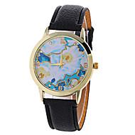 Dames Dress horloge Modieus horloge Polshorloge / Kwarts PU Band Sneeuwvlok  Zwart Wit Rood Bruin Groen