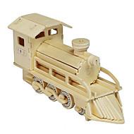 Jigsaw Puzzles 3D Puzzles / Wooden Puzzles Building Blocks DIY Toys Train Wood Beige Model & Building Toy