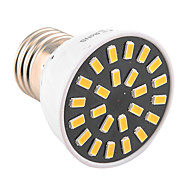 5W E26/E27 LED-kohdevalaisimet MR16 24 SMD 5733 400-500 lm Lämmin valkoinen / Kylmä valkoinen Koristeltu AC 220-240 / AC 110-130 V 1 kpl