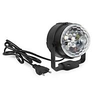 3W Feston LED-scenelampe Roterbar 1 Højeffekts-LED 360 lm RGB Lydaktiveret Dekorativ Vekselstrøm 85-265 V 1 stk.