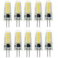 10PCS G4 12LED SMD5733 DC12V 500-600LM Warm White/White Decorative /Waterproof LED Bi-pin Lights