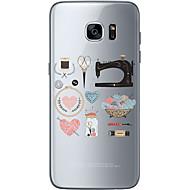 Voor Samsung Galaxy S7 Edge Patroon hoesje Achterkantje hoesje Kanten ontwerp Zacht TPU Samsung S7 edge / S7 / S6 edge plus / S6 edge / S6