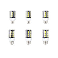 6 pcs E14 / E26/E27 / B22 LED Corn Lights 136 SMD 5733 12W 1000 lm Warm White / Cool White Decorative AC 220-240 V