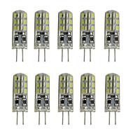 Dimmable Silicone G4 Led  Bulb Crystal Lamp 12V DC 24 SMD 3014 White/Warm White (10 Pieces)