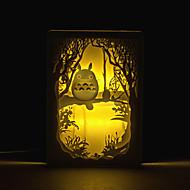 1pc totoro trois dimensions sculpture lampe silhouette lumière de la lampe de chevet lampe de cadre photo de chambre