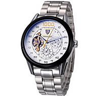 Tevise Herrn Armbanduhr Mechanische Uhr Automatikaufzug Chronograph Wasserdicht Edelstahl Band Cool Silber