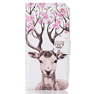 For Samsung Galaxy A3(2016) A5(2016)  Card Holder Flip Color Deer Pattern Case Full Body Case Hard PU Leather