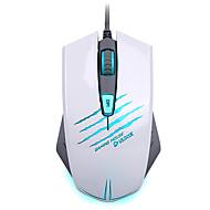 souris de jeu 4000dpi ergonomique jeu multimédia programmable souris filaire avec 3 couleur personnalisée respirer la lumière