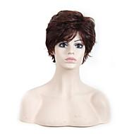 여성 인조 합성 가발 캡 없음 웨이브 어번(적갈색) 내츄럴 가발 의상 가발