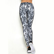 Women's Sexy Quick Dry Tights Compression Printed Long Sports Pants Fitness Running Leggings