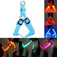 Katzen / Hunde Geschirre LED-Lampen / Regolabile/Einziehbar Solide Rot / Grün / Blau / Rosa / Gelb / Orange Nylon
