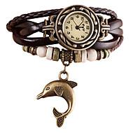 Damskie Dziecięce Modny Zegarek na nadgarstek Zegarek na bransoletce Kwarcowy Punk Kryształ górski sztuczna Diament PU PasmoPostarzane