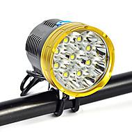 Fejlámpák Fényszóró Szíj biztonsági világítás LED 18000 Lumen 1 Mód Cree XM-L T6 18650 Ferde extruderfej Szuper könnyű Gépjárműbe