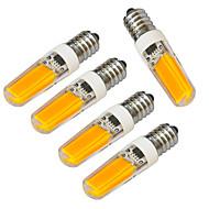 4W E14 LEDキャンドルライト 1 COB 320-400 lm 温白色 / クールホワイト 装飾用 V 5個