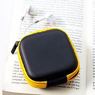 Travel Leather Material Headphones Change Purses(Random Color)