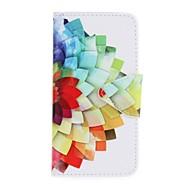Για το Samsung Galaxy s7 άκρη s7 eforcase μισά λουλούδια ζωγραφική pu τηλέφωνο περίπτωση