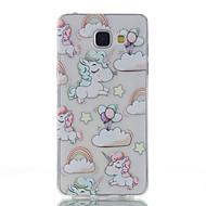 Til Samsung Galaxy A5 (2016) enhjørning mønster høj permeabilitet tpu materiale telefon taske