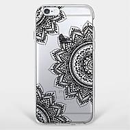 Pour Coque iPhone 7 Coque iPhone 6 Coque iPhone 5 Motif Coque Coque Arrière Coque Mandala Flexible PUT pour AppleiPhone 7 Plus iPhone 7